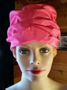 Vintage 60's Pink Taffeta Hat Turban Style by OhVintageThreads, $24.99