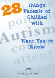 Click here to read more on autism, & high functioning autism