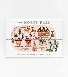 North Pole map postcards {Rifle Paper Co. Christmas Love, All Things Christmas, Merry Christmas, Cottage Christmas, Christmas Trends, Christmas Mugs, Scandinavian Christmas, Christmas Wishes, Christmas 2019