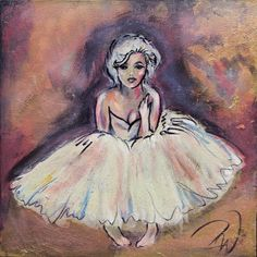 """ORIGINAL Painting """"Marilyn"""" Original Mixed Media Oil and Gold Leafing"""