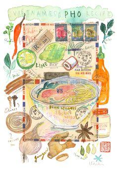 Lucile Prache프랑스의 키친 일러스트레이터.요리를 하고, 그 과정을 간단하게 일러스트로 표현한다. 잡지나 혹은 요리책 쪽으로 많이 활동하고 있다. 요리와 그림이 이렇게 조화될 수 있다니.주로 Water color를 사용하는데, 일부로 번지게 하여 표현하는 그 기법이 너무나도 사랑스럽다.그 외에도 편지봉투라던가, 기타 등등을 함께 콜라주처럼 활용하기
