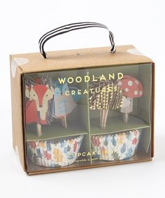 Loving this Woodland Creatures Cupcake Kit on #zulily! #zulilyfinds