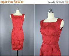 SALE  Vintage 1950s Dress / 50s Cocktail Dress / by ThisBlueBird
