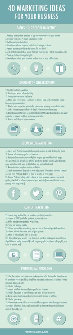 How to market your business: 40 marketing ideas for small business. Click through if you're looking for tips on how to market your creative business!