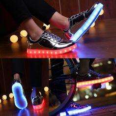 Women's Luminous Shoes Low Cut Silver