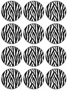 12 Custom Personalised Zebra Print Design Edible Icing Cupcake Topper Images   eBay