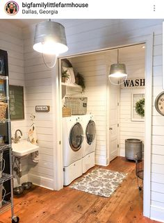Have a boring laundry room? Farmhouse laundry room ideas to give your space a beautiful remodeling. Look at this farmhouse laundry room ideas to makeover your very own laundry room! Discover a laundry room farmhouse ideas and inspiration decoration below. Farmhouse Design, Farmhouse Decor, Modern Farmhouse, Farmhouse Homes, Farmhouse Ideas, Laundry Room Remodel, Basement Laundry, Farmhouse Laundry Room, Vintage Laundry Rooms
