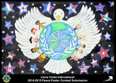 2014-15 Lions Clubs International Peace Poster Competition submission from Benton Boy Athletic Lions Club in Alaska USA