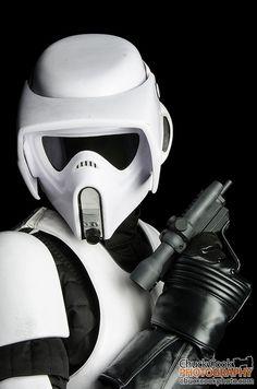 Ryan Crain as a Star Wars Speeder Bike Trooper   SDCC 2013