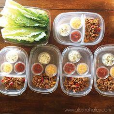 Ground Turkey Lettuce wraps // Easy 21 day fix Meal Prep // Alesha Haley Blog #21dayfix