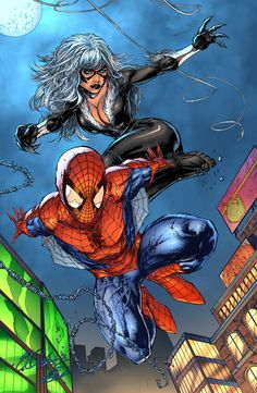 Spider-Man and Black Cat by Shelby Robertson