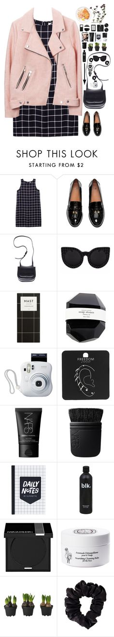 """""""I was almost there just a moment away from becoming unclear"""" by spottdrossel ❤ liked on Polyvore featuring Olive + Oak, H&M, The Row, Delalle, Fujifilm, Topshop, NARS Cosmetics, MAKE UP FOR EVER, Diptyque and American Apparel"""