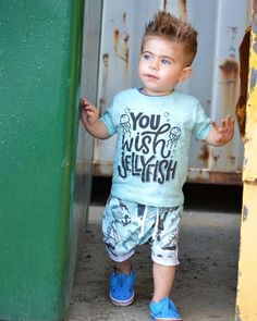You wish Jelly Fish – Our 5 Loves Vinyl Shirts, Boys Shirts, Cute Shirts, Family Outfits, Baby Boy Outfits, Kids Outfits, Beach Shirts, Summer Shirts, Teen Boy Fashion