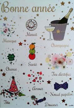 Messages, Happy New Year, Alphabet, Playing Cards, Xmas, Bullet Journal, Illustration, Fireworks, Merry Little Christmas