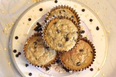 Chocolate chip oatmeal muffins!  Gluten free and vegan!