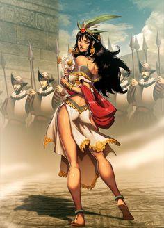 Malinche by GENZOMAN.deviantart.com on @deviantART