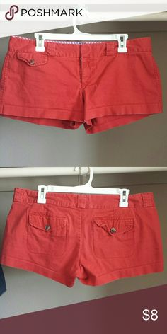 Red shorts Worn, great condition American Eagle Outfitters Shorts Cargos