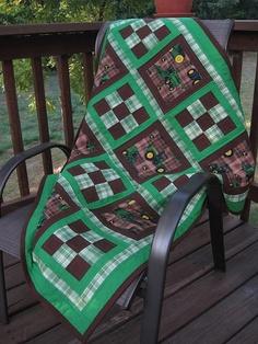 John Deere Baby Quilt John Deere Dreams by SewnWithLoveByVicki, $110.00
