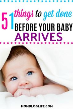 Preparing for your baby's arrival is an exciting time in your life! Here are 51 things you should make sure to get done before your baby is born so you'll be organized and able to enjoy your new baby. Cleaning tips, organization hacks, baby products to get and items for mom. #newmom #mom #baby #pregnancy #pregnant