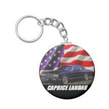 1980 Caprice Landau Coupe Basic Round Button Keychain