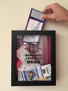 1000 ideas about ticket shadow boxes on pinterest shadow box ticket stubs and ticket stub box. Black Bedroom Furniture Sets. Home Design Ideas