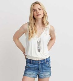 AEO Wrap Front Crop Tank - Buy One Get One 50% Off