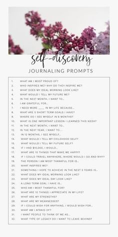 30 Day Journal Prompts For Self-Discovery To Ignite The Best Version Of Yourselfa 30 day daily self-discovery journal writing prompts for adults, for teens, for therapy. These journal prompts will help find happiness, self-love, and Journal Writing Prompts, Journal Art, How To Journal, Bullet Journal Prompts, Bullet Journal Questions, Journal Prompts For Teens, Journal Topics, Motivacional Quotes, Lyric Quotes
