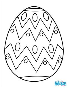 Easter Egg Coloring Page #2