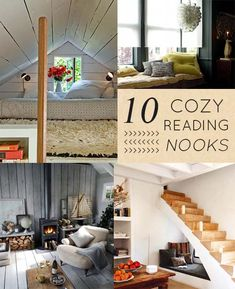 10 Cozy Reading Nooks I wouldn't mind napping in right now... #nook #readingnook #creativenook #reading #napping #nap #interiors #designsponge #cozynook