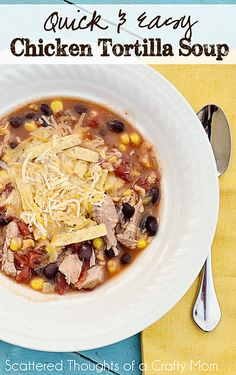 Chicken Tortilla Soup ready in 30 minutes?  You've got to try this recipe!