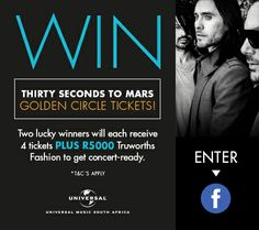 Golden Circle, Thirty Seconds, Competition, How To Apply, Facebook, Concert, Music, Movie Posters, Musica