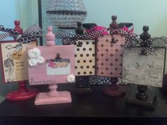 Personalized Picture Frame Holder Block by tonspicklesnicecream, $20.00
