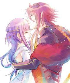Loki x Yui from Kamigami no Asobi couple