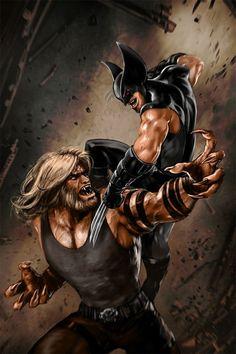 Wolverine vs Sabertooth by Skribblix Marvel Wolverine, Marvel Dc Comics, Heros Comics, Marvel Vs, Marvel Heroes, Anime Comics, Wolverine Images, Logan Wolverine, Black Panther Marvel