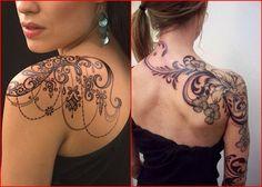 Glänzender Oberarm Tattoo für Frauen
