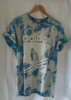 Vintage Acid Wash Tie Dye Unisex Slouchy Grunge T-Shirt L Adidas | eBay