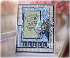 "Andrea EwenStyle for Maja Designs using the Life in the Country paper collection, Verve stamps and the Feb 11, 2013 Mojo Monday sketch, ""Good Things Are Going To Happen"""