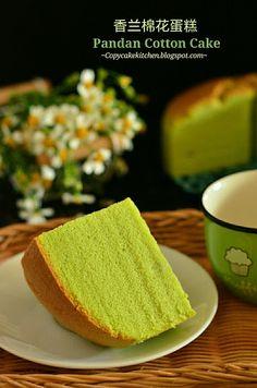 Copycake Kitchen: Pandan Cotton Cake 香兰棉花蛋糕