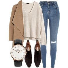 Untitled #4885 by laurenmboot on Polyvore featuring H&M, Harris Wharf London, River Island and Daniel Wellington