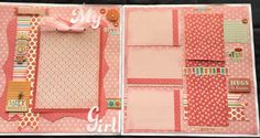 This cute layout kit is all about that adorable and beautiful young lady in your life. In this layout there is lots of pink, lots of