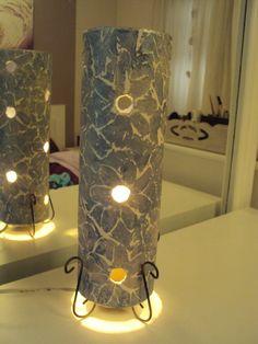 Luminária feita com cano de pvc e massa acrilica!