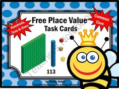 Free Place Value Hundreds Tens Ones Math Task Cards Game from Promoting Success on TeachersNotebook.com -  (6 pages)  - Place Value: Hundreds, Tens and Ones - Here are six task cards to help your students practice place value. There is a student response form and answer key as well. Students love task cards because they allow movement in the classroom. Brain research shows