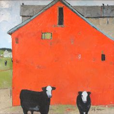 iamjapanese:Dinah Worman(American, b.1950)Back to the Barn  oil on canvas    via