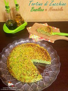Un delizioso tortino di zucchine, con basilico e nocciole #senzaglutine #senzalattosio