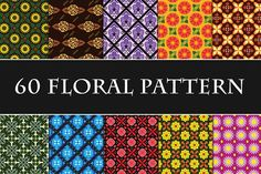 60 Unique Floral Pattern by Tosca Digital on @creativemarket