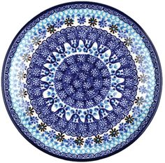 Bunzlau Plate 25,5 cm Blue Coral Coral Blue, Blue And White, Porcelain Dinnerware, Polish Pottery, Beautiful Hands, Stoneware, Outdoor Blanket, Hand Painted, Plates