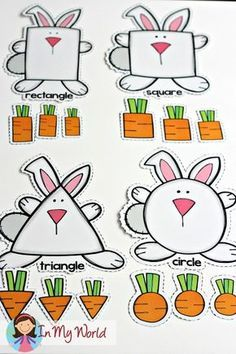 Spring Preschool Centers FREE Spring Preschool Centers Bunny and Carrots shape sorting activity April Preschool, Preschool Centers, Preschool Lessons, Preschool Learning, Preschool Crafts, Spring Preschool Theme, Activity Centers, Shapes For Preschool, Toddler Preschool