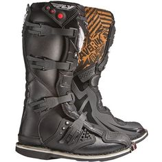 Fly Racing Maverik MX Youth Off-Road Motorcycle Boots - Black / Size 6