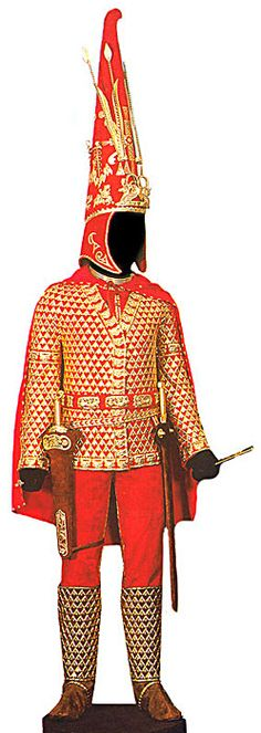 Scythian Clothing reconstruction from clothing found in Scythian tomb, 2300 years old, in Kazakhstan.