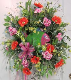 XL Whimsical Fish Wreath Great for the Beach or by LadybugWreaths, $189.97